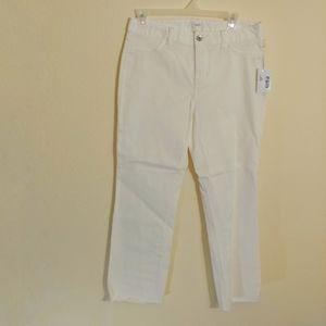 Size 6 Ecru Dylan Flare leg crop pant White NWT